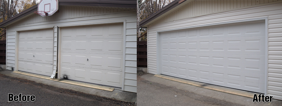 before and after garages